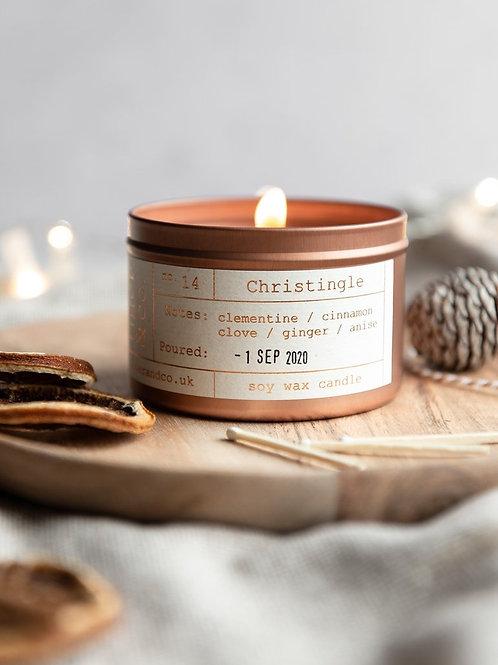 Christingle Candle Tin