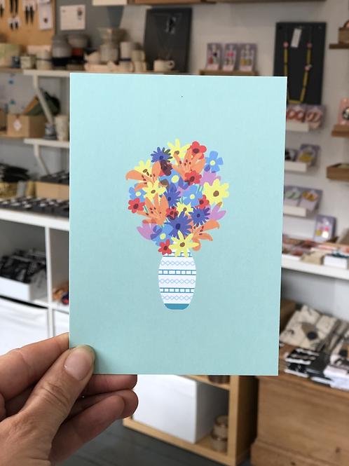 Flowers in a Vase Postcard