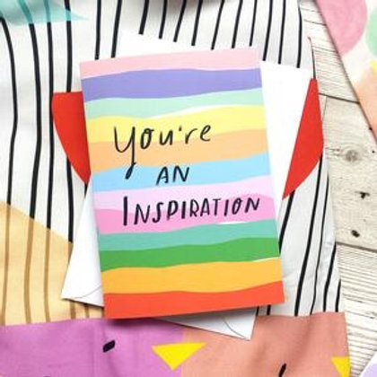 You're an inspiration, Card