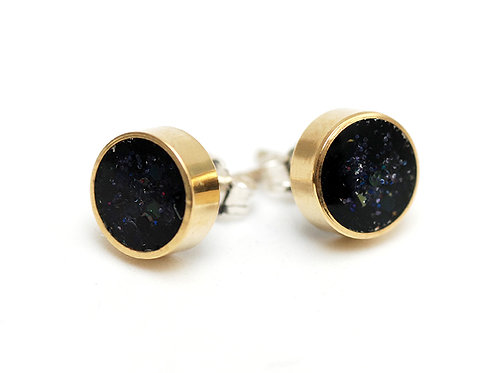 Glitter and Brass Studs in Inkwell