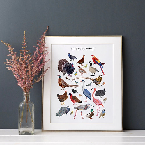 Find Your Wings Print  (Unframed)