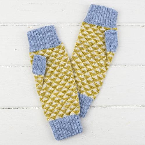 Triangle Mitts - Mustard