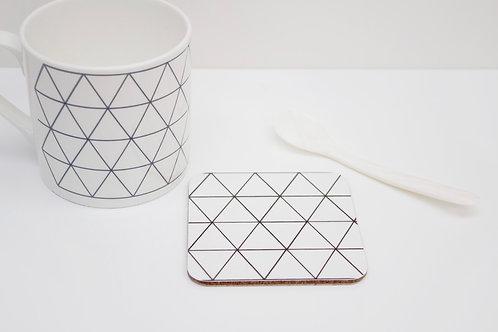 Monochrome Triangle Coaster