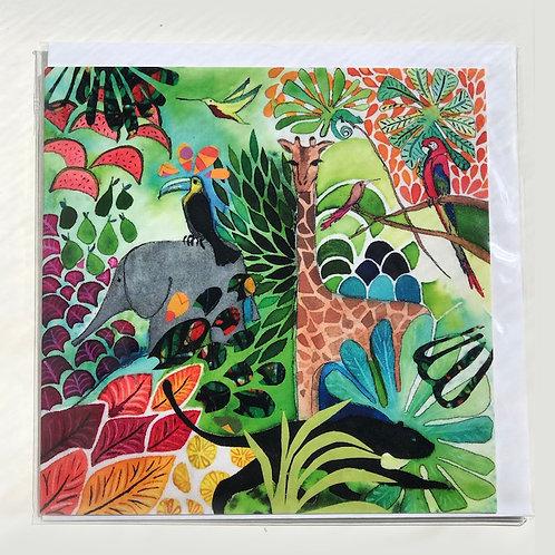 Giraffe Jungle Card