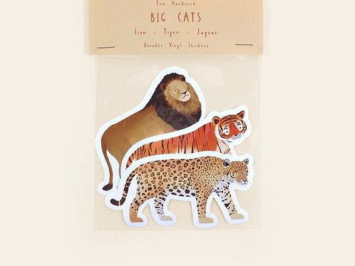 Big Cats Vinyl Sticker Pack
