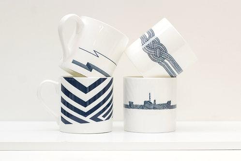 Set of Dazzle Mugs Bone China Mug