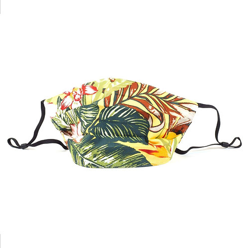Facemask - Green & Coral Tropical