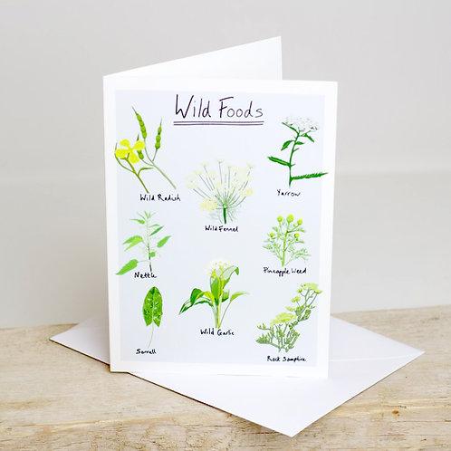 Wild Foods Greetings Card