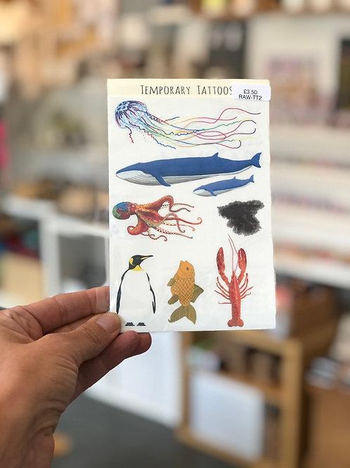 Underwater Animals Tattoos