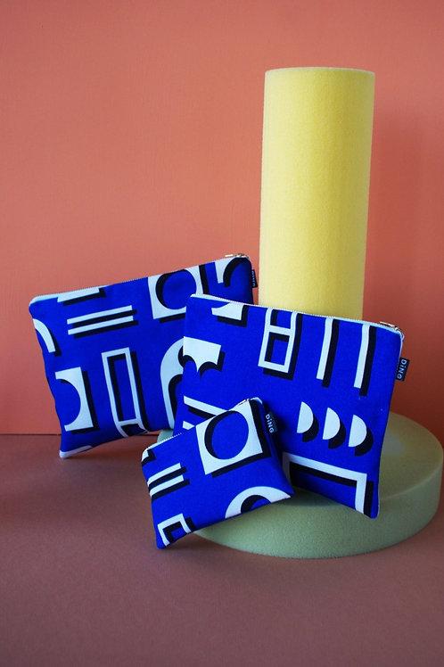 Blue Factory Zip Pouches