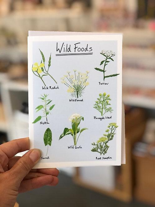 Wild Foods Card