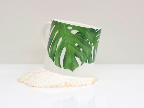 Cheese Leaf Bone China Mug