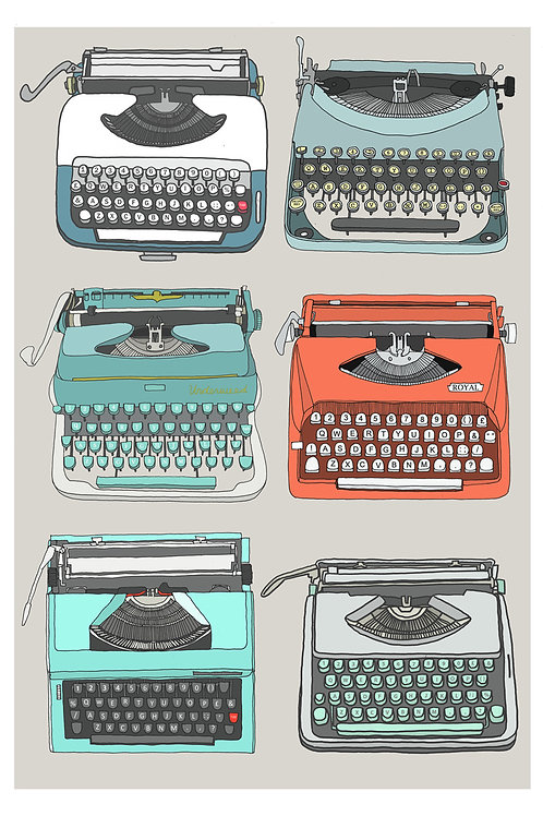 Typewriters Print - A4 & A3 size