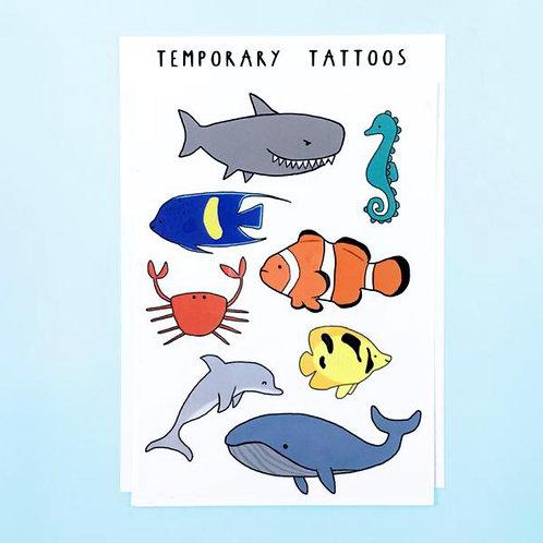 Ocean Animals Tattoos