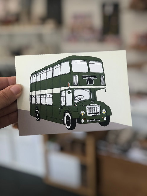 Bristol Green Bus Postcard