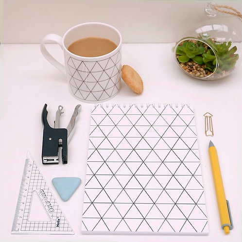 Geo Triangle Design Notebook