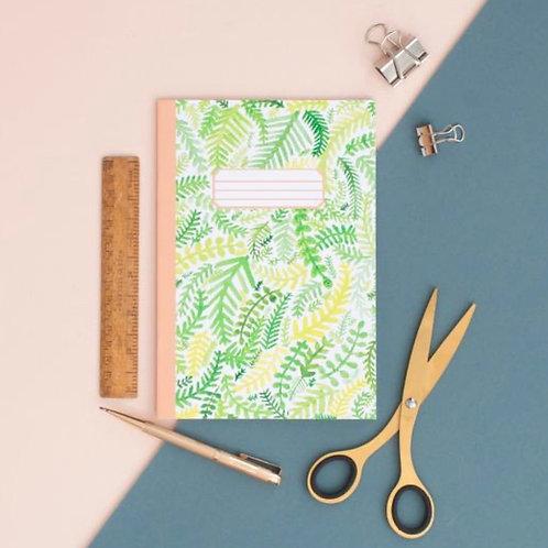Fern Pattern A5 Notebook