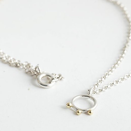 Line Dot Circle Necklace
