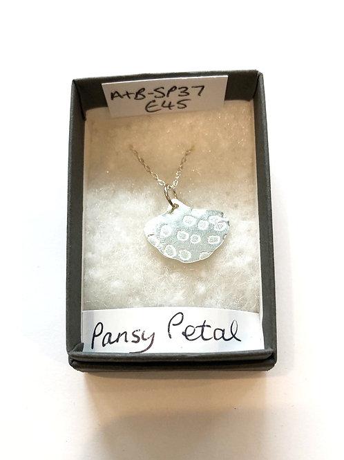 Silver Pansy Petal