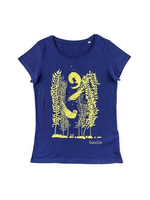 Womans Otter and kelp organic T-shirt