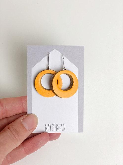 Small Hoop Earrings - Yellow