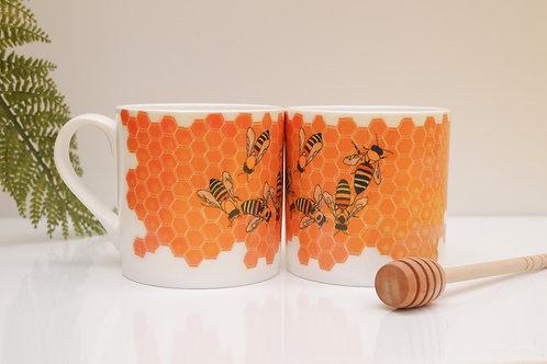 Bees Bone China Mug