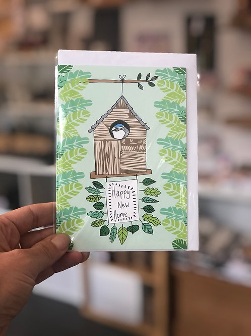 Bird House New Home Card