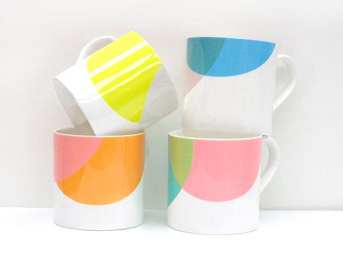 Set of Dip Bone China Mugs