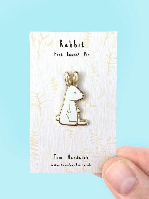 White Rabbit Enamel Pin