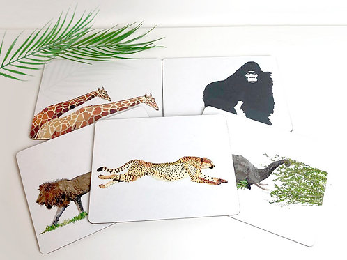Set of Africa animal Placemats