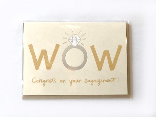 WOW Congrats on your engagment Card