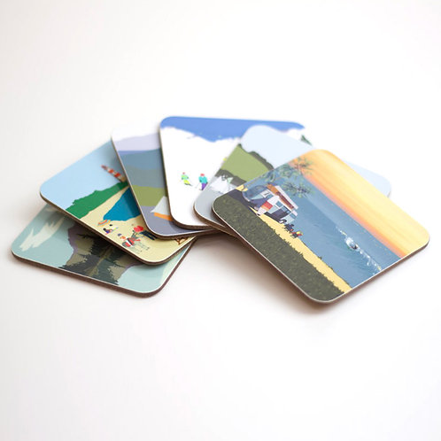 Set of Weekend Explorer Coasters