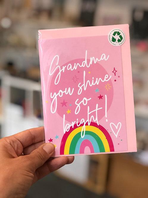 Grandma you shine so bright Card