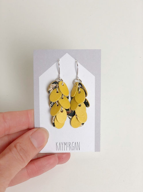 Punch Earrings - Yellow
