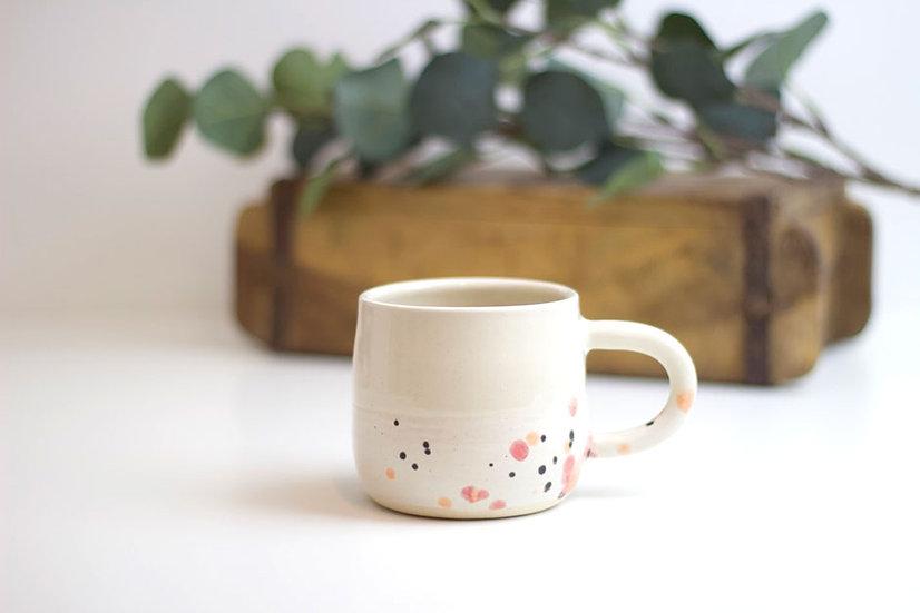 Wheel Thrown Handmade Stoneware Ceramic Mug- Splatter