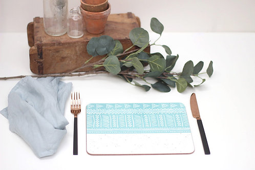 Sgraffito Blue Sea Placemat
