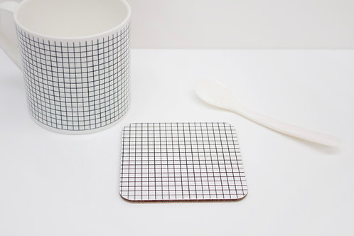 Monochrome Grid Coaster