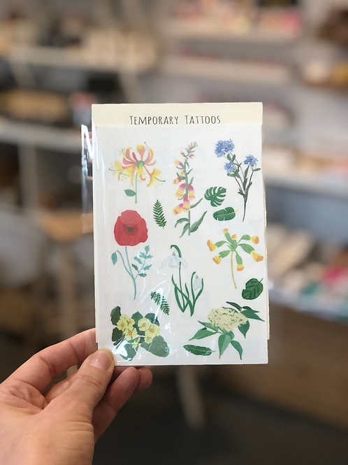 Wild Flower Temporary Tattoos