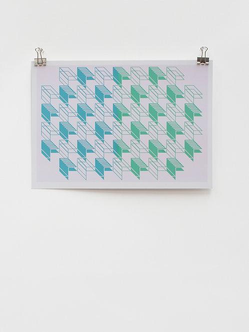 Blue|Green - Digital Print