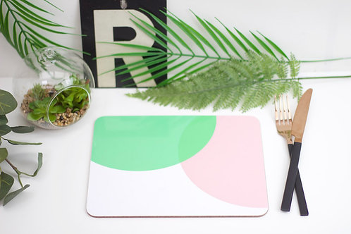 Pink|Green Dip Placemat