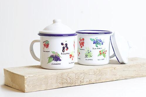 Wild Berries | Enamel Mug With Lid