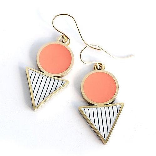 Drop Earrings - Coral
