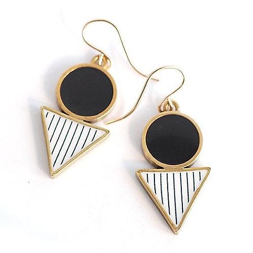 Drop Earrings - Charcoal