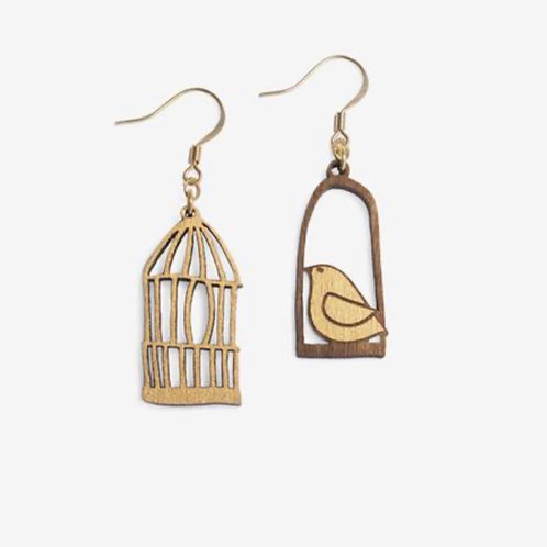 Freedom at Dawn Earrings (gold colour)