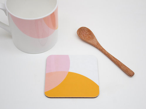 Orange|Pink Dip Coaster