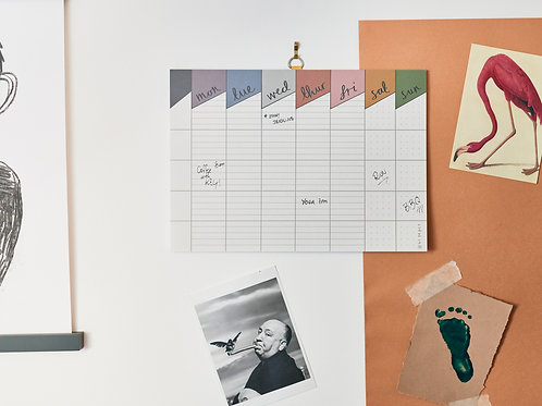 Weekly Planner A4 / Recycled Paper