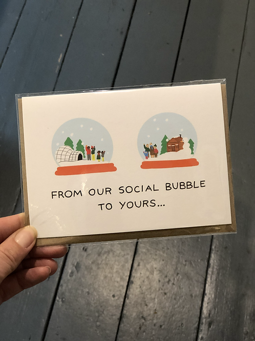 From our social bubble Christmas Card