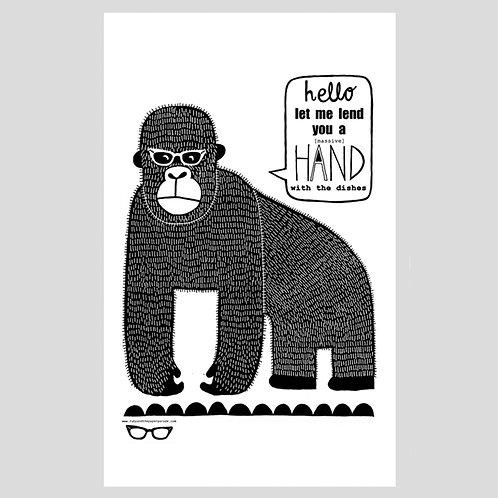 Gorilla Tea Towel