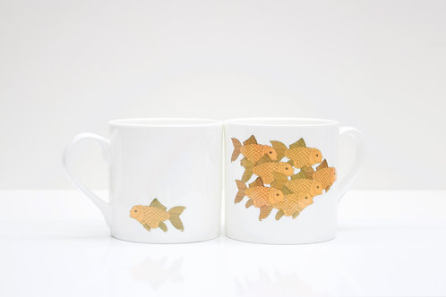 Anarchist Goldfish Bone China Mug