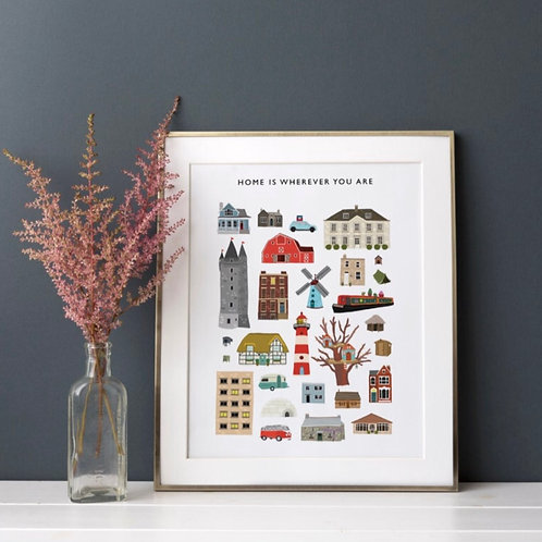 Home is where you are Print (Unframed)
